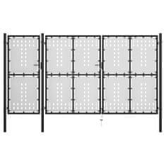 shumee Záhradná brána, oceľ 400x175 cm, čierna