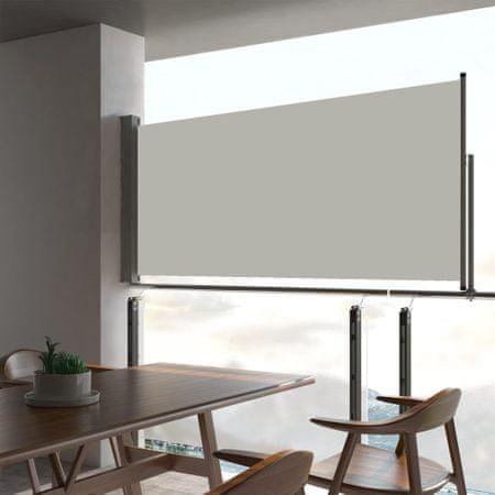 shumee krémszínű kihúzható oldalsó terasz napellenző 60 x 300 cm