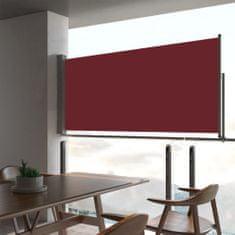 Zaťahovacia bočná markíza na terasu červená 60x300 cm