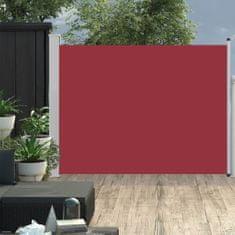 shumee Zatahovací boční markýza/zástěna na terasu 170 x 500 cm červená