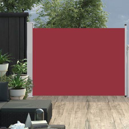 shumee Wysuwana markiza boczna na taras, 100 x 500 cm, czerwona