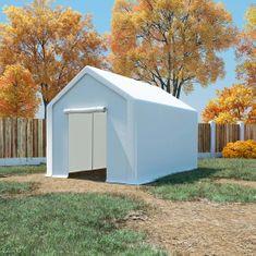Namiot magazynowy z PE, 3x6 m, biały