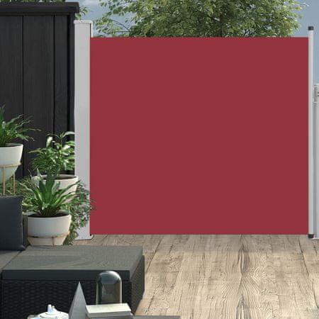 shumee Wysuwana markiza boczna na taras, 170 x 300 cm, czerwona