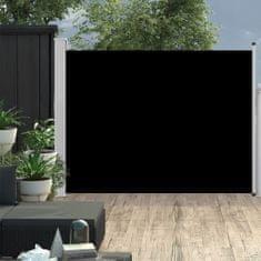 shumee Zatahovací boční markýza/zástěna na terasu 170 x 500 cm černá