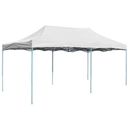 shumee Profesjonalny, składany namiot imprezowy, 3x6 m, stal, biały