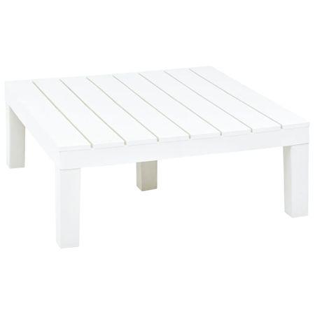 shumee Stolik ogrodowy, biały, 78 x 78 x 31 cm, plastikowy