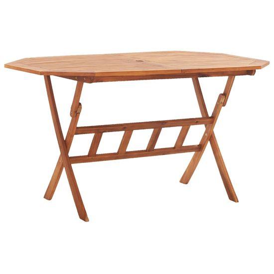 Skladací záhradný stôl 135x85x75 cm, akáciový masív