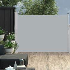 shumee Zatahovací boční markýza/zástěna na terasu 120 x 500 cm šedá