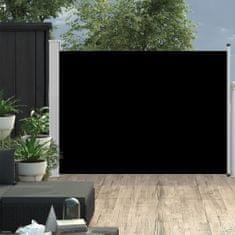 shumee Zatahovací boční markýza/zástěna na terasu 120 x 500 cm černá