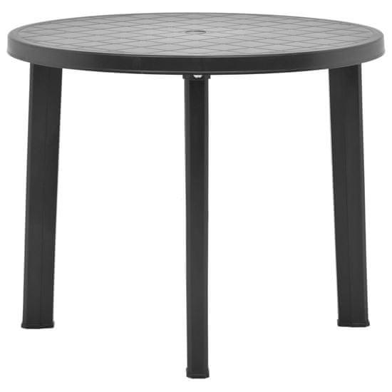 Vidaxl Zahradní stůl antracitový 89 cm plast