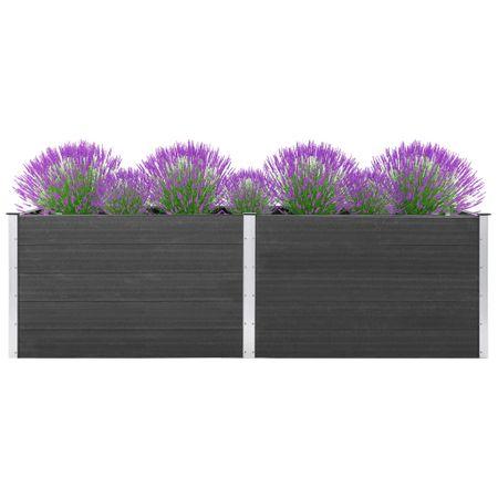 shumee szürke WPC kerti magaságyás 300 x 50 x 91 cm