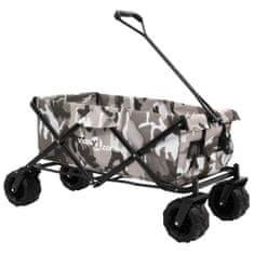 Składany wózek ręczny, metalowy, moro
