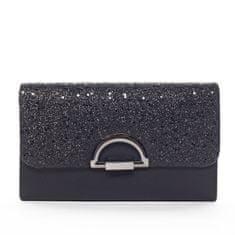 Michelle Moon Trblietavá listová kabelka s kovaním JEANNE, čierna