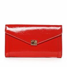 Michelle Moon Moderná spoločenská listová kabelka BRIGETTE, červená