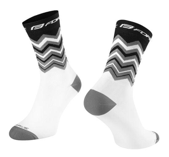 Force Cyklistické ponožky Wave - černá/bílá, 42-46