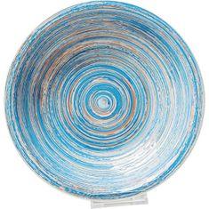 KARE Hluboký talíř Swirl Blue 21cm