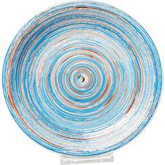 KARE Talíř Swirl Blue O27cm