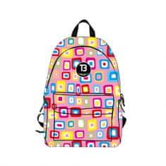 TopBags Dívčí školní batoh COOLAST TB Cool Squares 18.5 l