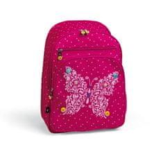 Busquets Dívčí školní batoh Fuchsia Butterfly