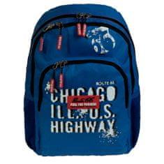 Busquets Chlapecký školní batoh Blue Route 66 20 l