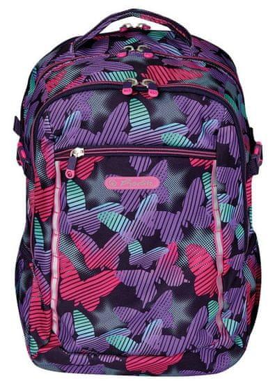 Herlitz Školní batoh Ultimate Pruhovaný Motýl