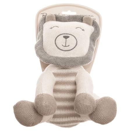 Baby Hug lev, sedeč, pleten, pliš, 24 cm