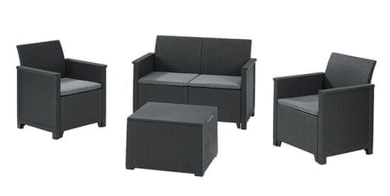 KETER EMMA 2 seater sofa set grafit