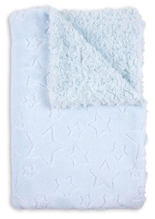 Interbaby takaró csillagokkal & rózsákkal 80 × 110 kék