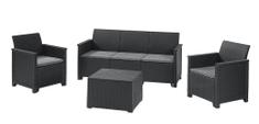 KETER zestaw z ławką EMMA 3 seater sofa grafit