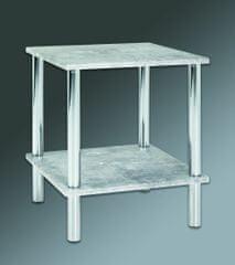 Mørtens Furniture Odkladací stolík Brant, 47 cm, betón/chróm