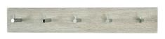 Mørtens Furniture Nástenný vešiak Avenio, 57 cm, dub/chróm