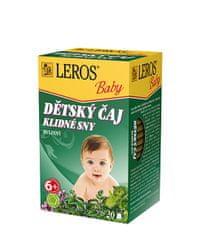 LEROS Baby Detský čaj Pokojné sny 20 x 1.5 g