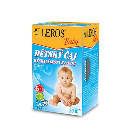 LEROS Baby Detský čaj Dýchacie cesty s lipou 20 x 2 g