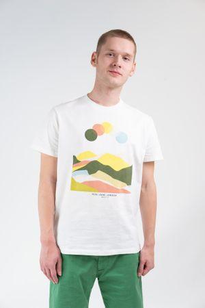 Pepe Jeans koszulka męska Jay M kremowy
