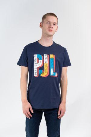 Pepe Jeans férfi póló Sampson PM507179 M sötétkék