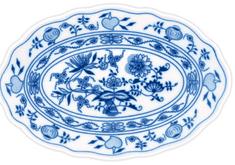ČESKÝ PORCELÁN Misa oválna 24 cm, dekor cibulák