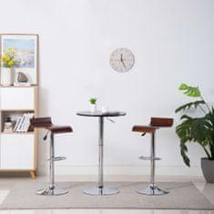 shumee Barové stoličky 2 ks hnědé