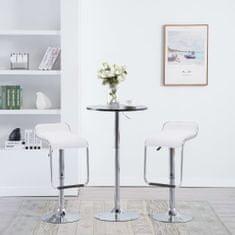 shumee Otočné barové stoličky 2 ks bílé umělá kůže