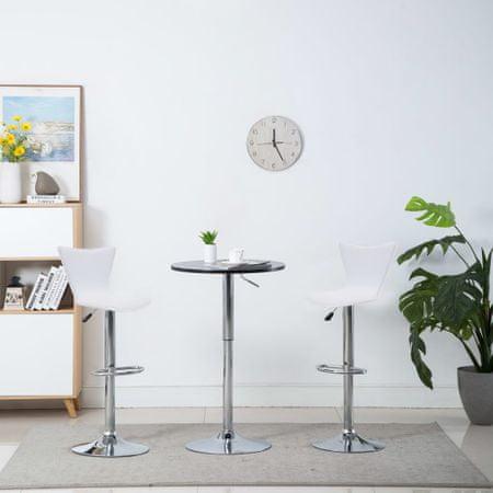 shumee Vrtljivi barski stoli 2 kosa belo umetno usnje