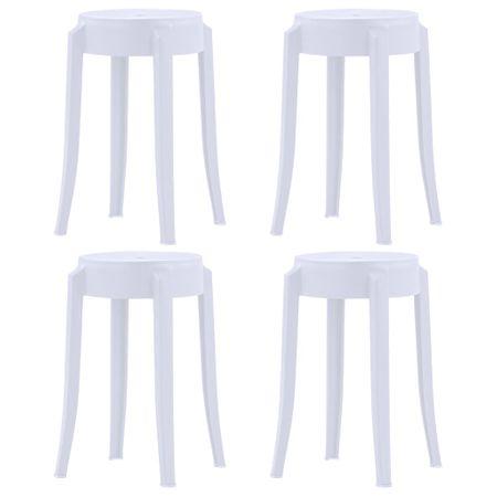 shumee Stolčki 4 kosi bela plastika