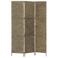 3-panelový paraván hnedý 116x160 cm vodný hyacint
