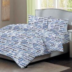 Home Elements Bavlnené obliečky - modro biele, jednolôžko
