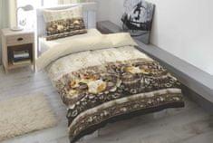 Home Elements bavlnené saténové obliečky ROSETTE CARAFE 140 x 200 70 x 90 cm