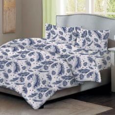Home Elements Bavlnené obliečky , modré perie, jednolôžko