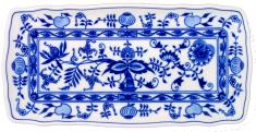 ČESKÝ PORCELÁN Podnos štvorhranný 45 x 16 cm, dekor cibulák