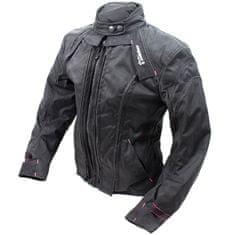 Cappa Racing Bunda moto dámska STRADA textilná čierna / ružová