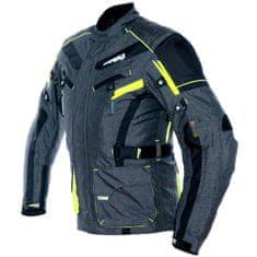 Cappa Racing Bunda moto pánska CHARADE textilná sivá / fluo