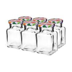 Marex Trade Zavařovací sklenice TWIST s víčkem, 6 x 150 ml