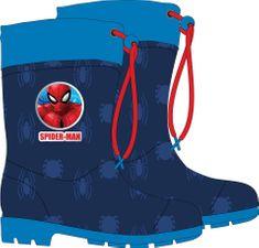 Eplusm Chlapecké gumáky Spiderman - modrá