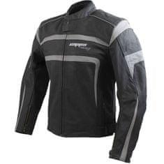 Cappa Racing Pánská kožená moto bunda INDIANA– černá/šedá